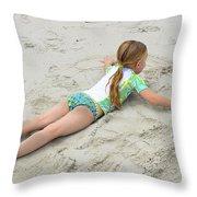 Making A Sand Angel Throw Pillow