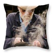Making Billy Tea Throw Pillow