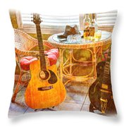 Making Music 005 Throw Pillow by Barry Jones