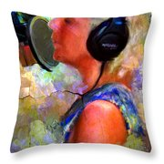Making Music Throw Pillow by Robert Smith