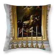 Malachite And Lapis Lazuli Altar Throw Pillow