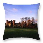 Malahide Castle, Co Fingal, Ireland Throw Pillow