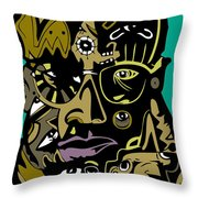 Malcolm X Full Color Throw Pillow