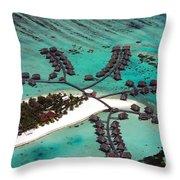 Maldives Aerial Throw Pillow by Jane Rix