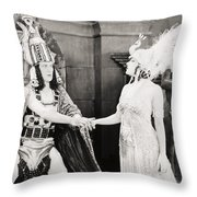 Male And Female, 1919 Throw Pillow