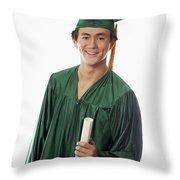 Male Graduate Throw Pillow