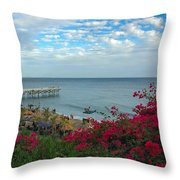 Malibu Beauty Throw Pillow