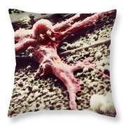 Malignant Cancer Cell Throw Pillow