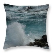 Maliko Point Maui Hawaii Throw Pillow