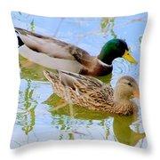 Mallard Couple Throw Pillow