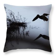 Mallard - Duck - Near The Tombigbee Throw Pillow