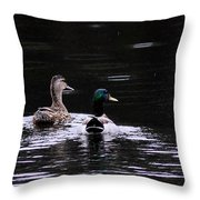 Mallards - Like Walking In The Rain Throw Pillow