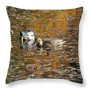 Mallards In Autumn Throw Pillow