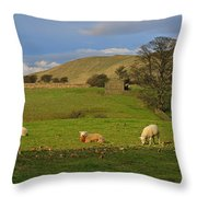 Mallerstang Dale In Cumbria Uk Throw Pillow