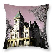 Mallory-neely Victorian Village Memphis Throw Pillow