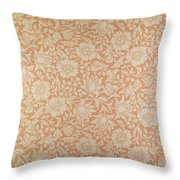 Mallow Wallpaper Design Throw Pillow