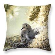 Mama Dove Throw Pillow