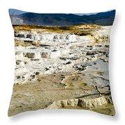 Mammoth Hot Springs Terraces Throw Pillow