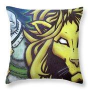 Man And Beast Throw Pillow