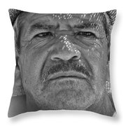 Man And Hat Throw Pillow