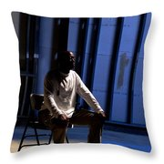 Man In Prayer Throw Pillow