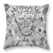 Man In The Middle Throw Pillow