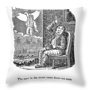 Man In The Moon, 1833 Throw Pillow by Granger