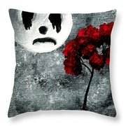 Man In The Moon Throw Pillow