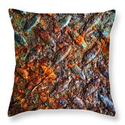 Man Made Trees Throw Pillow by Empty Wall