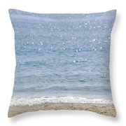 Man On Beach Throw Pillow