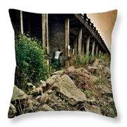 Man Under Bridge Throw Pillow
