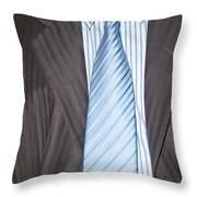 Man Wearing A Suit And Tie Throw Pillow