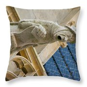 Man With Gaping Mouth Throw Pillow