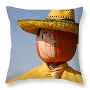 Man With The Yellow Hat Throw Pillow