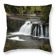 Manabezho Falls 2 Throw Pillow