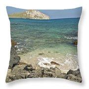 Manana Island View 0068 Throw Pillow