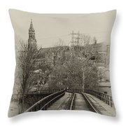 Manayunk From The Tressel Tracks Throw Pillow