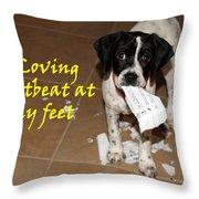 Mancha - A Loving Heartbeat Throw Pillow