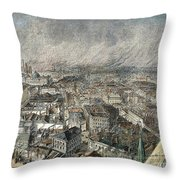 Manchester, England, 1876 Throw Pillow