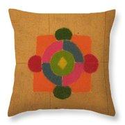 Mandal Rangoli Throw Pillow