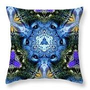 Mandala Animal Wisdom Throw Pillow