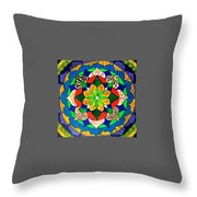 Mandala Circle Of Life Throw Pillow