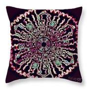 Mandala Fluid Emotions Throw Pillow