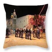 Manger Square At Night Throw Pillow