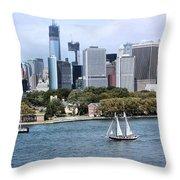 Manhattan Backdrop Throw Pillow