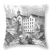 Manhattan College, 1868 Throw Pillow