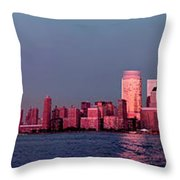 Manhattan In Pink Throw Pillow