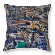 Manhattan Lincoln Tunnel Entrance Throw Pillow