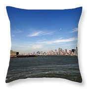 Manhattan Skyline Throw Pillow