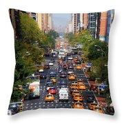 Manhattan Street Throw Pillow